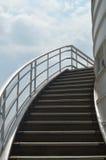 Изогнутая внешняя лестница Стоковые Фото