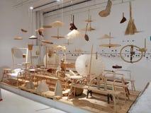 Изогнутая деревянная структура стоковое изображение
