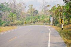 Изогнутая дорога Стоковое Изображение