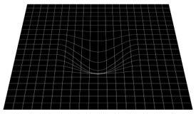Изогнутая решетка в перспективе сетка 3d с выпуклым искажением бесплатная иллюстрация