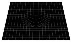 Изогнутая решетка в перспективе сетка 3d с выпуклым искажением иллюстрация штока