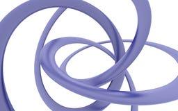 Изогнутая фиолетовая винтовая линия Стоковая Фотография RF
