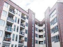 Изогнутое угловое современного жилого дома Стоковое Изображение RF