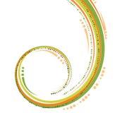 изогнутые зеленые линии померанцовые Стоковые Изображения RF