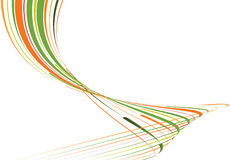 изогнутые зеленые линии померанцовые Стоковое Изображение RF