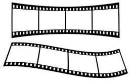 Изогнутые прокладки фильма на белой предпосылке стоковые изображения rf