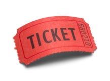 Изогнутый билет стоковые изображения