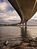 изогнутый мост Стоковые Фото