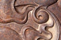 Изогнутый спиральный дизайн горизонтальный Стоковое Изображение