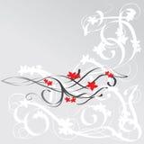 изогнутый флористический орнамент Стоковая Фотография