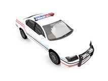 изолированная автомобилем белизна полиций Стоковые Фото