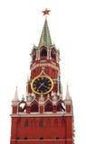 изолированная белизна башни kremlin moscow стоковые изображения rf