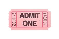 изолированная белизна билета кино Стоковые Фото