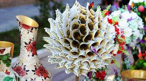 изолированная белизна вала дег handmade Стоковое Фото