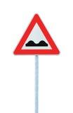 изолированная белизна дорожного знака полюса неровная Стоковые Фото