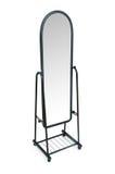 изолированная белизна зеркала высокорослая стоковая фотография rf