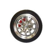 изолированная белизна колеса автошины mag стоковое фото rf