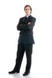 изолированная белизна костюма человека стоковая фотография rf