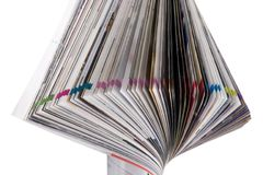 изолированная белизна крена кассеты Стоковая Фотография