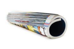 изолированная белизна крена кассеты Стоковые Фото