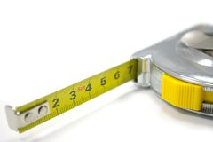 изолированная белизна ленты измерения стоковые изображения