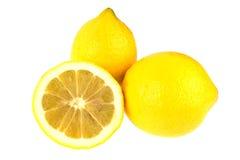 изолированная белизна лимонов 3 Стоковое фото RF
