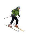 изолированная белизна лыжника Стоковая Фотография RF