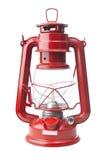 изолированная белизна масла светильника красная Стоковые Изображения