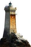 изолированная белизна маяка Стоковая Фотография