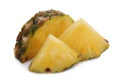 изолированная белизна отрезанная ананасом Стоковое фото RF