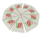 изолированная белизна отрезанная пиццей Стоковое Изображение RF