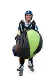 изолированная белизна парашюта шлямбура Стоковое Изображение RF