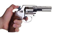 изолированная белизна револьвера Стоковое Изображение RF