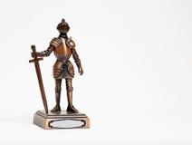 изолированная белизна рыцаря Стоковые Фото