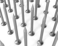 изолированная белизна рядков ногтей стальная Иллюстрация вектора