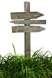 изолированная белизна сбора винограда дорожного знака Стоковая Фотография