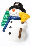 изолированная белизна снеговика стоковые фотографии rf