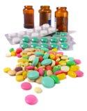 изолированная белизна таблетки Стоковое Изображение