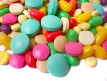 изолированная белизна таблетки Стоковые Фотографии RF