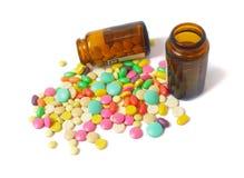изолированная белизна таблетки Стоковая Фотография