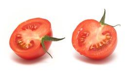 изолированная белизна томата ломтика Стоковые Фото