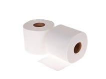 изолированная белизна туалета кренов стоковое фото
