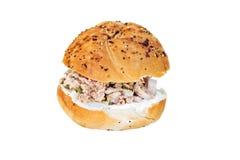 изолированная белизна туны сандвича Стоковые Фотографии RF