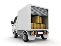 изолированная белизна фургона иллюстрация штока