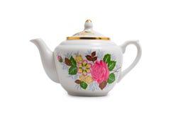 изолированная белизна чайника Стоковое Фото
