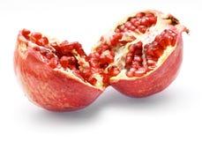 изолированная белизна pomegranate стоковые изображения