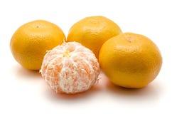 изолированная белизна tangerine Стоковая Фотография