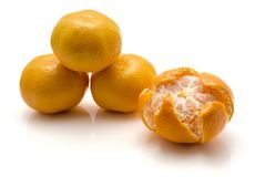 изолированная белизна tangerine Стоковое Изображение