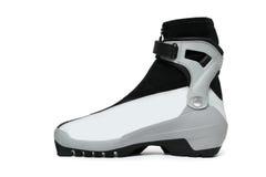 изолированная ботинком белизна лыжи Стоковые Фотографии RF