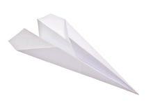 изолированная бумажная плоскость Стоковые Фотографии RF
